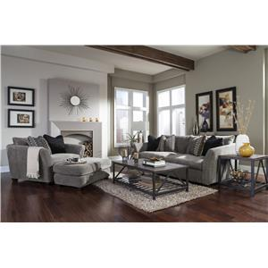 Jackson Furniture Brighton Chaise with Casual Style