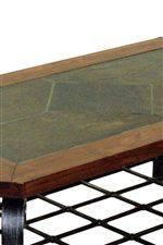 Wood Framed Slate Table Top