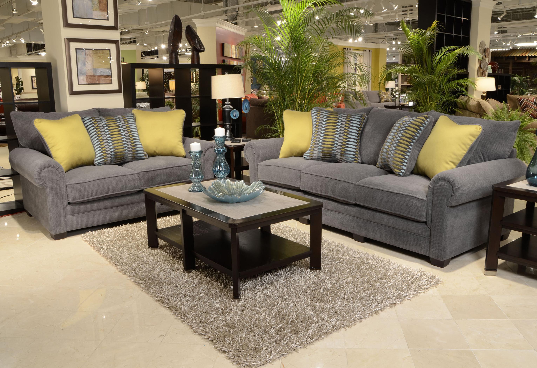 Jackson Furniture Anniston Stationary Living Room Group - Item Number: 4342-Carbon Living Room Group 1