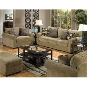 Jackson Furniture Anniston Stationary Living Room Group
