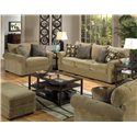 Jackson Furniture Anniston Stationary Living Room Group - Item Number: 4342 Living Room Group 1