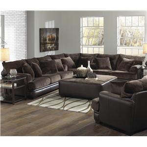 Jackson Furniture Barkley  Fresh Styled Loveseat for Family Rooms and Living Rooms