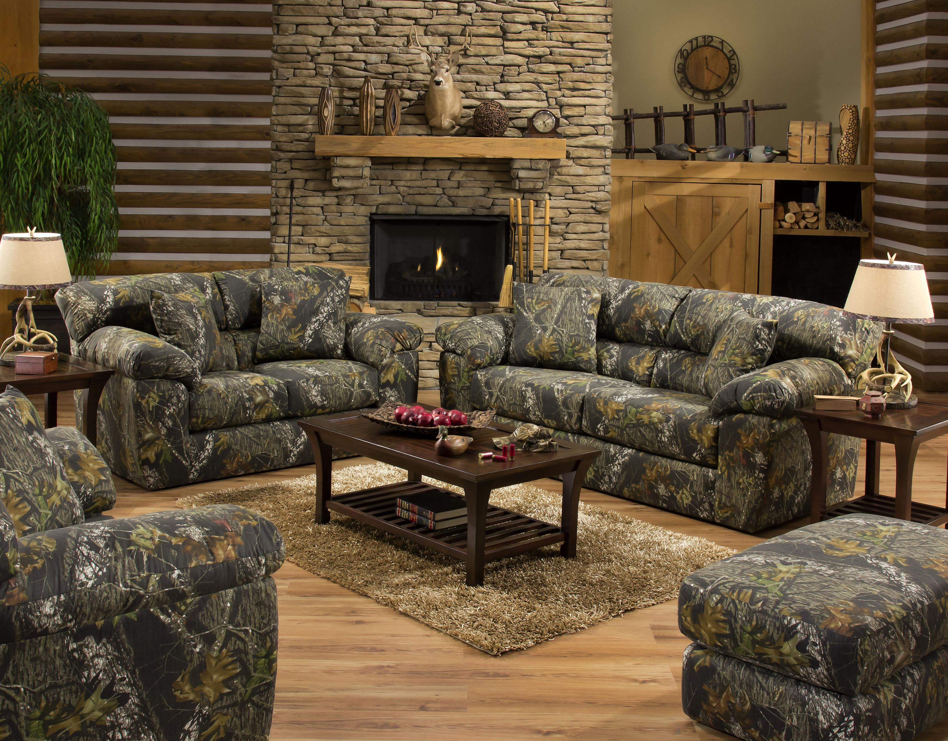 Jackson Furniture Big Game Camouflage Two Seat Sofa | Lindyu0027s Furniture  Company | Sofas