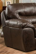 Pillow Topped Arms and Pub Style Seat Backs Bring Relaxed Comfort to Casual Style