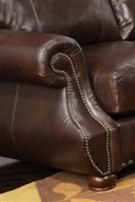 Rolled Arms with Nail Head Trim have a Decorative Traditional Look