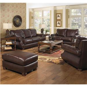 Jackson Furniture Dawson Loveseat with Traditional Style
