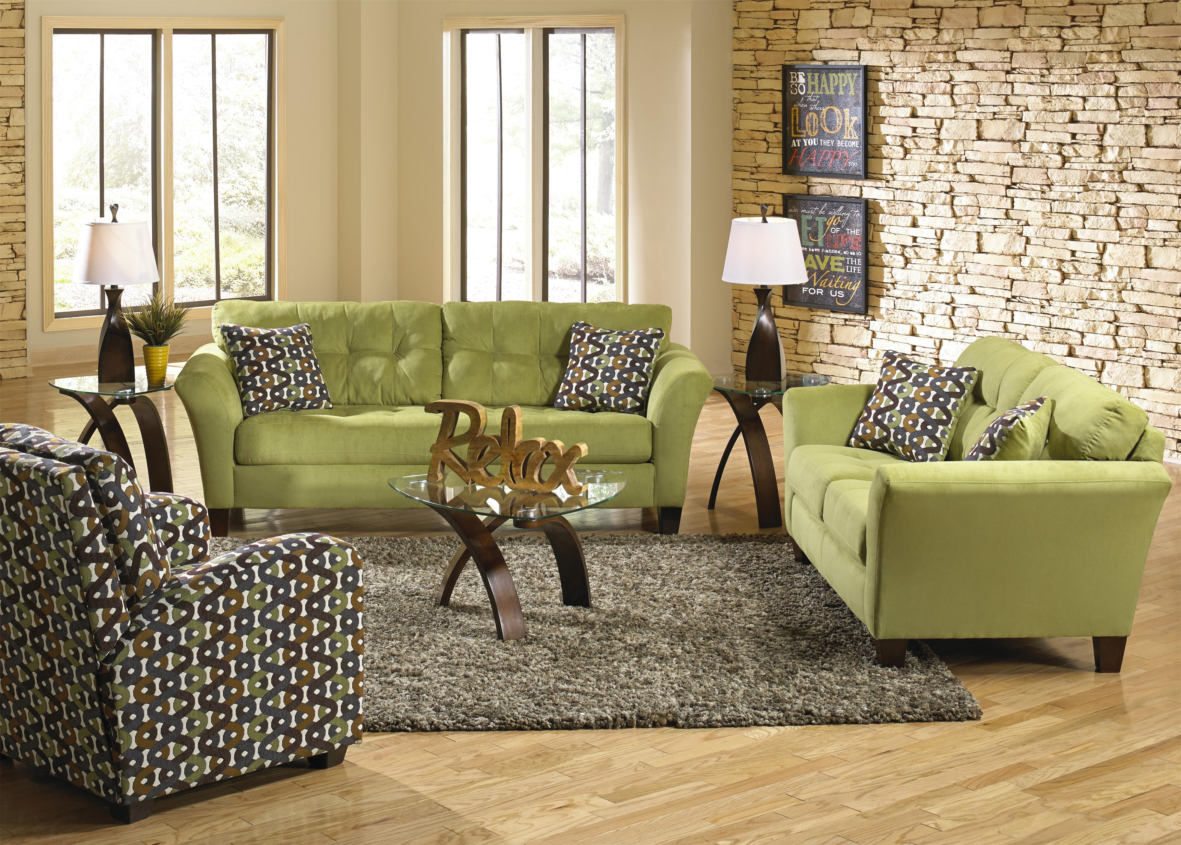 Jackson Furniture Halle Stationary Living Room Group - Item Number: 4381 Living Room Group 1
