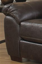 Smooth Pulled Upholstery Over Thick Stuffed Padding Provides Casual Comfort for Sitting and Lying Down