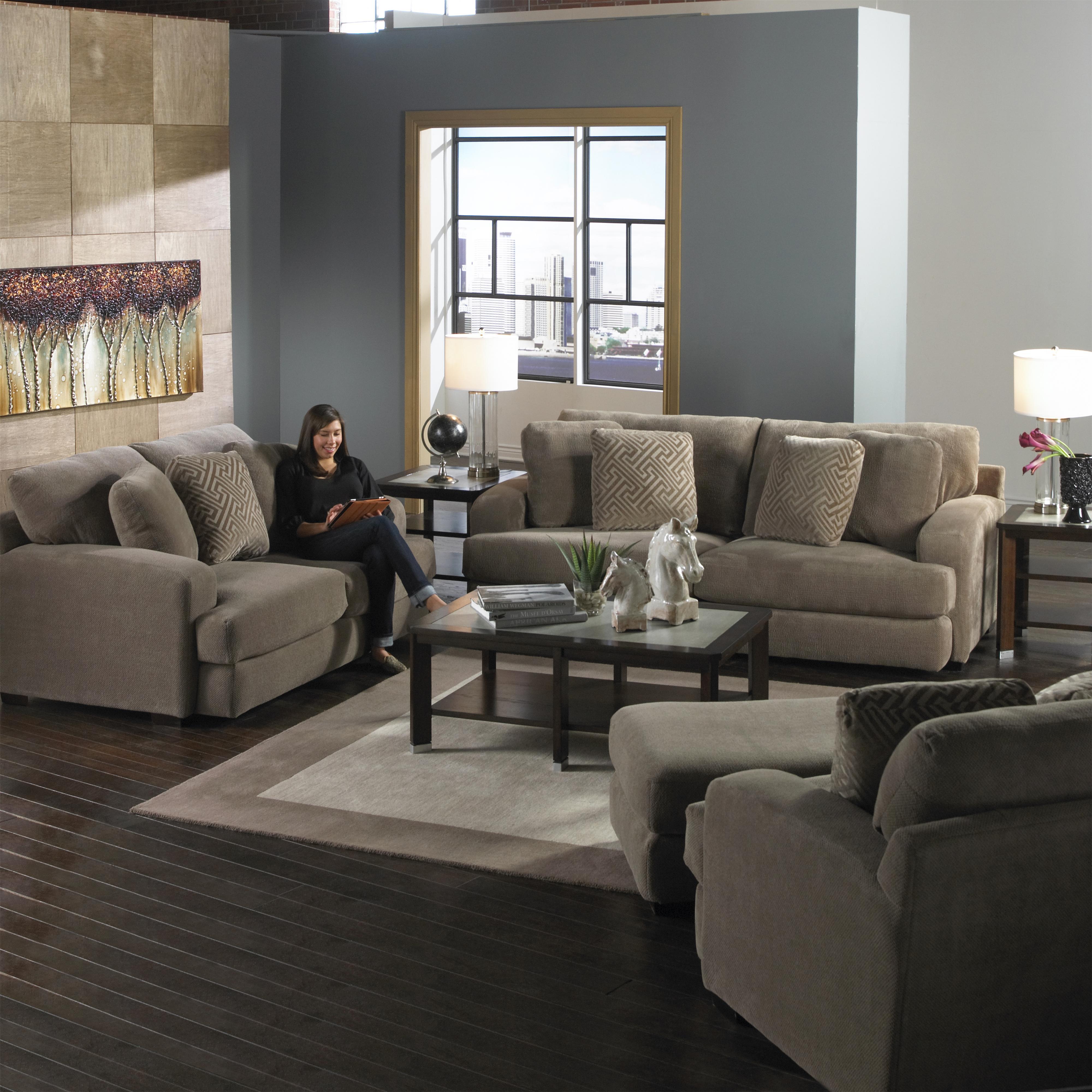 Jackson Furniture Palisades Casual Modern Sofa   L Fish   Sofas