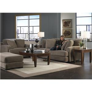 Jackson Furniture Palisades Casual Modern Chair and Ottoman Set