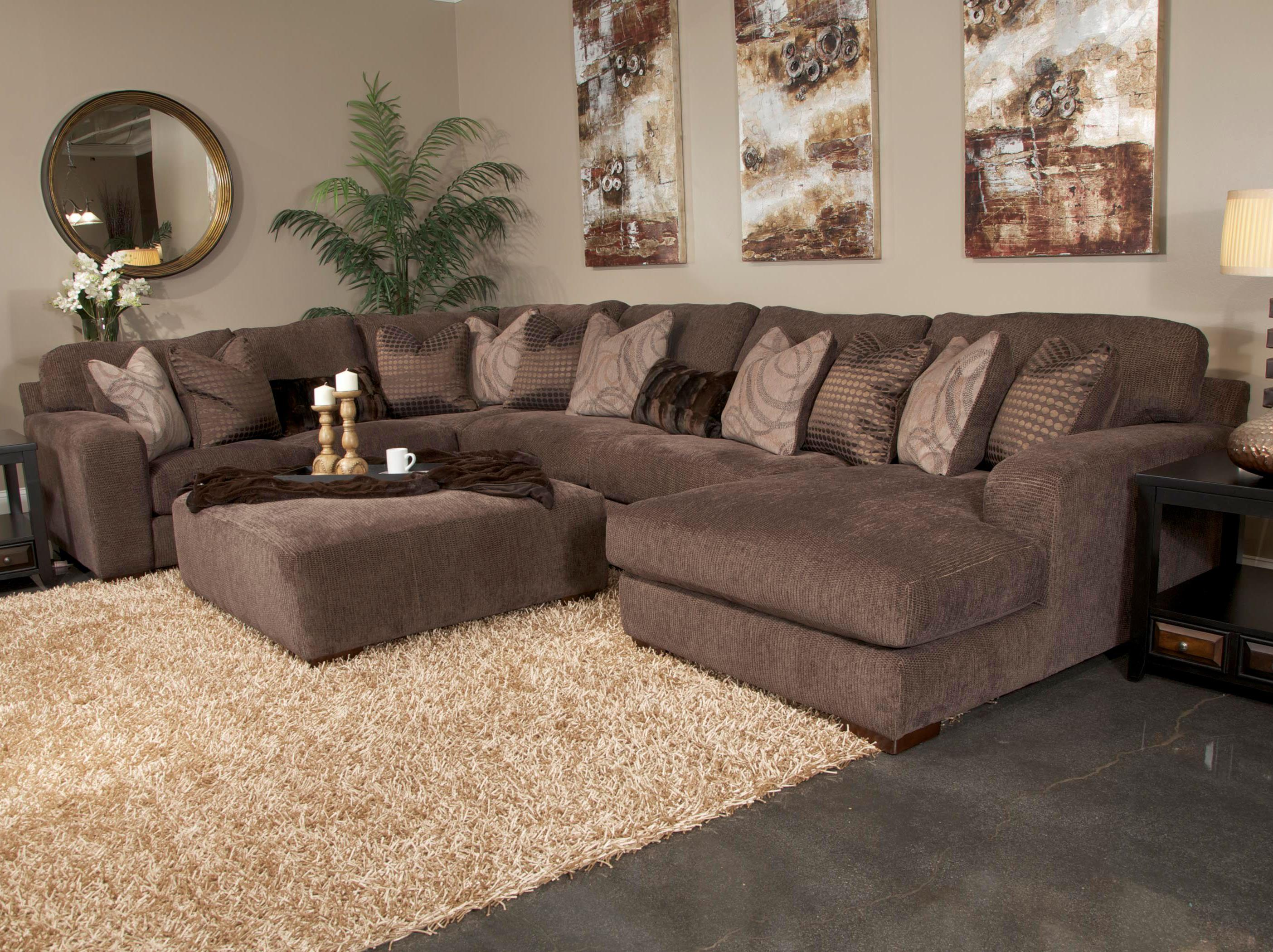 Jackson Furniture Serena Five Seat Sectional Sofa With Chaise On  ~ Deep Seat Sofa Sectionals