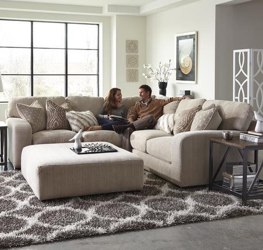 Jackson Furniture Serena Five Seat Sectional Sofa With Chaise On Left Side  | Standard Furniture | Sectional Sofas Birmingham, Huntsville, Hoover,  Decatur, ...
