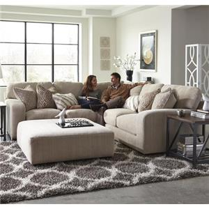 Jackson Furniture Serena Five Seat Sectional Sofa with Chaise on Left Side
