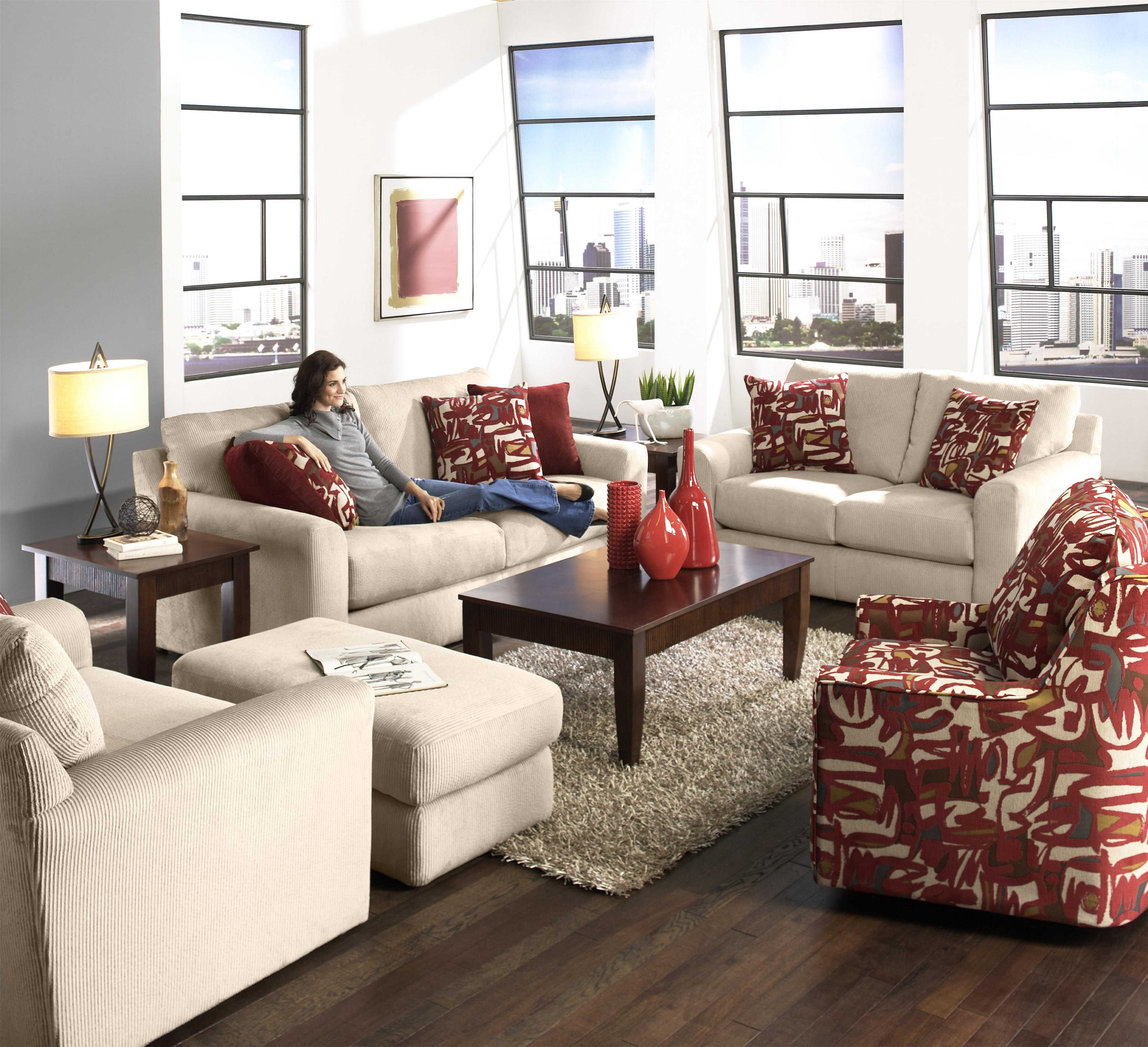 Jackson Furniture Sutton Sleeper Sofa With Casual Style | L Fish | Sleeper  Sofas
