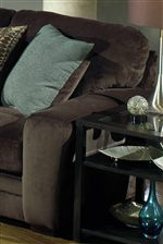 Smooth Track Arms Provide a Contemporary Contrast to the Plush Upholstered Cushions of this Collection's Pieces