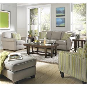 Jackson Furniture Zachary Transitional Loveseat with Sock Arms