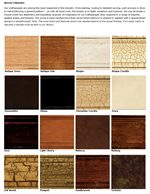 Expertly Applied Stains and Finishes Include Painted, Antiqued and Distressed Styles