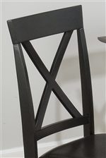 Decorative X on Chair Back