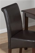 Chestnut Bonded Leather Seat & Backrests