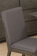 Upholstered Seat & Backrests in Gray Linen