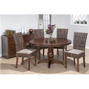 Jofran Urban Lodge Rustic Hewn Rectangular Table with Turned Legs
