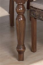 Turned Legs Seen on Napoleon Chairs and Rectangular Table