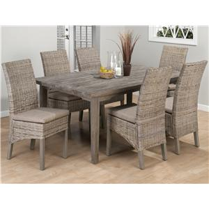 Jofran Burnt Grey Coastal Rectangle Leg Table