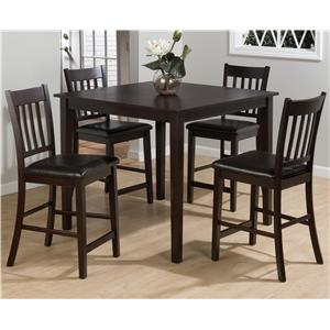 Jofran Marin County 5-Piece Counter Height Table & Counter Chair Set