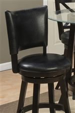 Padded Seat Cushions on the Counter Height Stools Provide Comfort