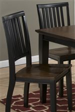 Simple Styled Slat Back Chairs help you to Create a Casual Atmosphere