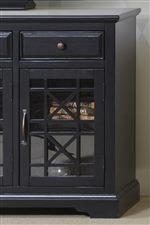 Woodwork Enhances the Cabinets in this Collection with an Element of Intricacy