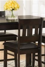 Mango Veneer Chairs with Faux Leather Seats