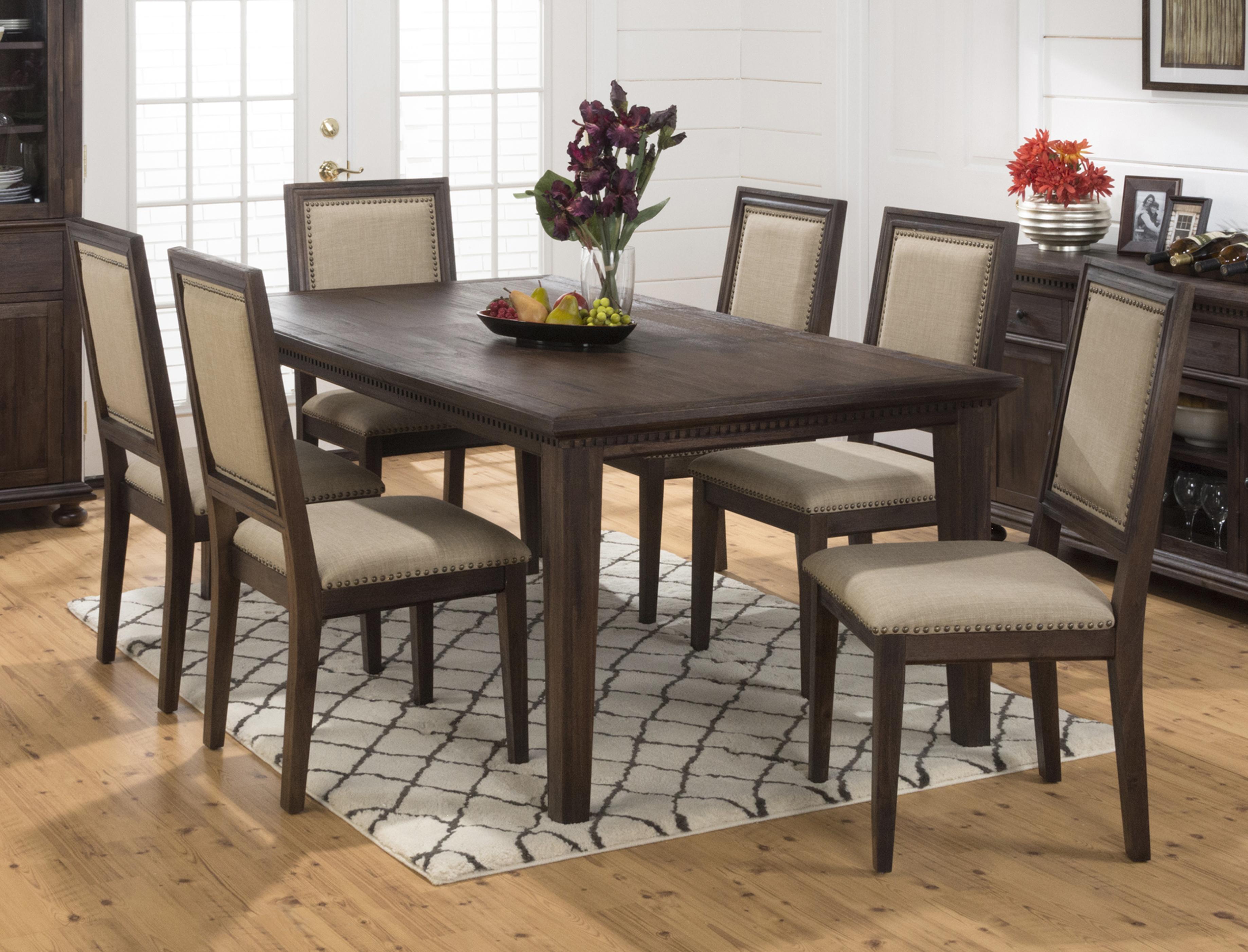 kutskokitchen rectangular set counter and sets medium dining kavara tables brown table kitchen height chairs