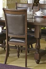 Nail head Trim Adds Traditional Style to the Backs of Chairs