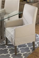 Upholstered Arm Chairs add Sophisticated Style and Comfort to a Collection