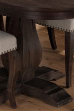 Turned Pedestals Provide Beautiful Accents of Classic Furniture Style