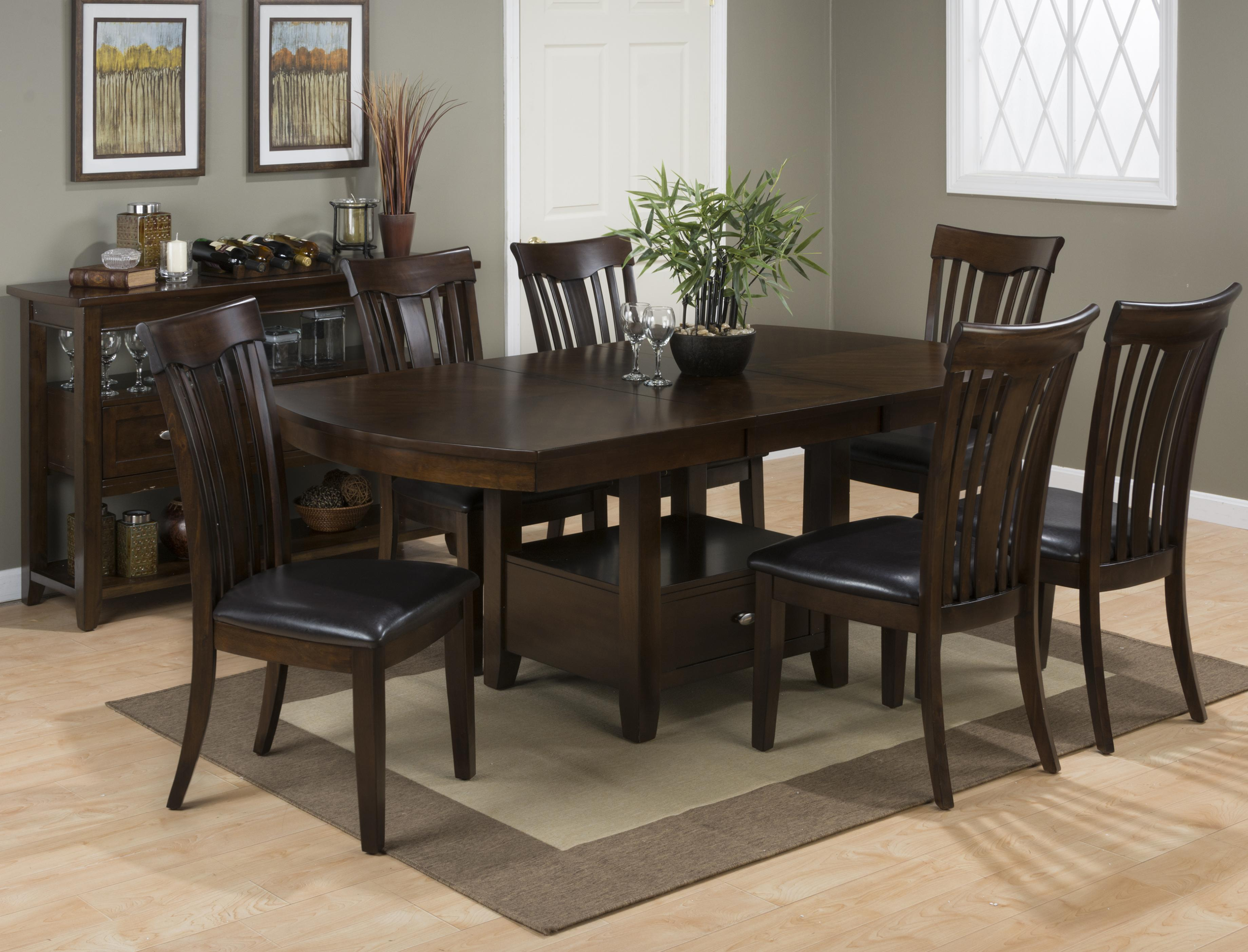 Tavia 7PC Dining Table U0026 Chair Set W/ Padded Chair Cushions   Rotmans    Dining 7 (or More) Piece Set Worcester, Boston, MA, Providence, RI, And New  England
