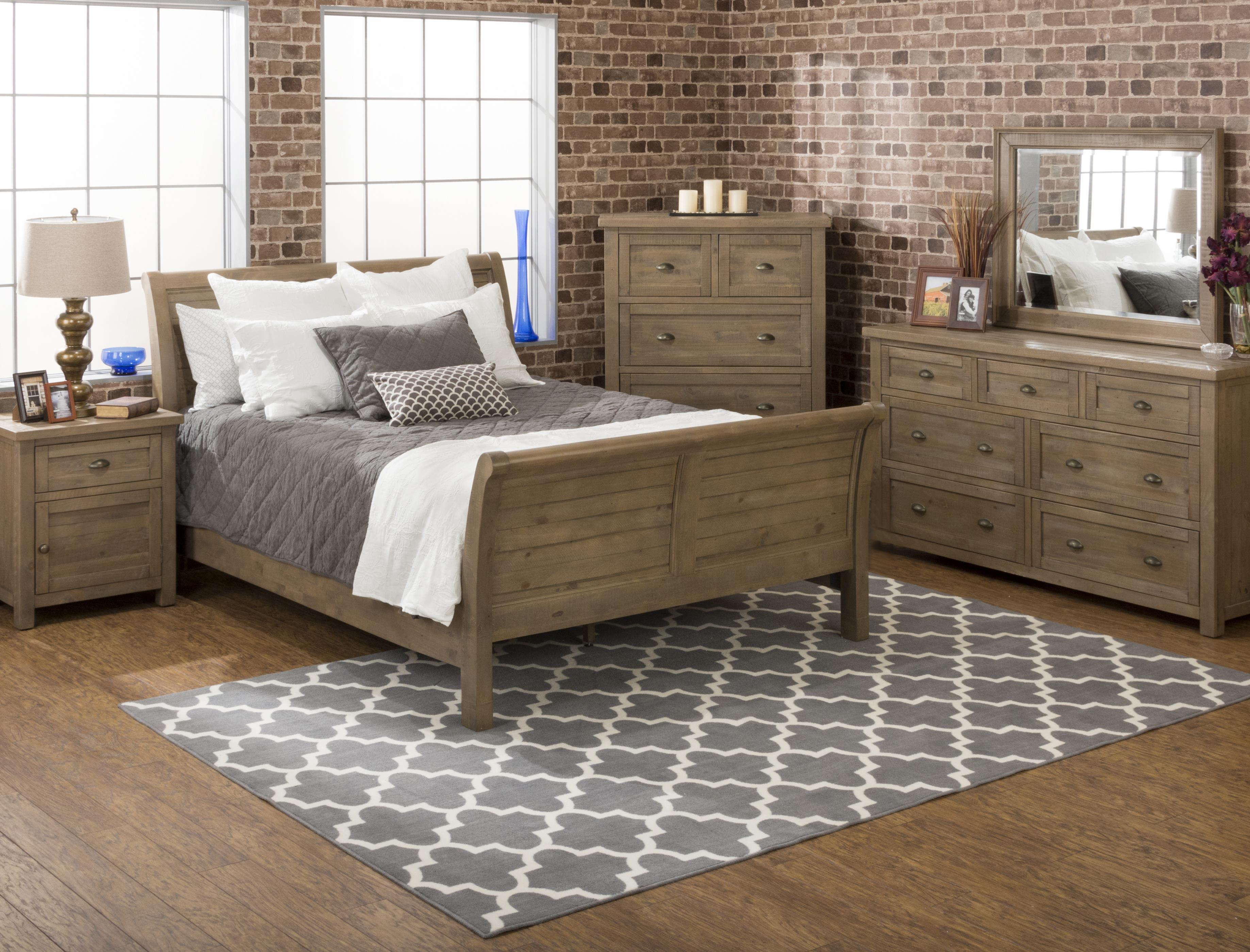 Jofran Slater Mill Pine Queen Bedroom Group - Item Number: 941 Q Bedroom Group 1