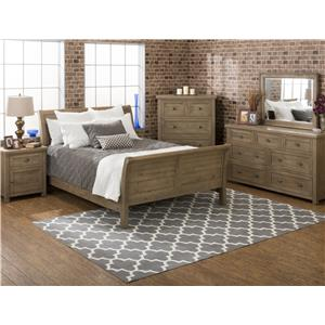 Jofran Slater Mill Pine King Bedroom Group
