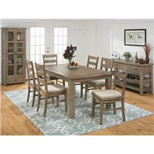 Jofran Slater Mill Pine Reclaimed Pine Trestle Dining Table