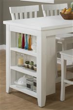 Storage Built Into the Counter Height Table Becomes a Casual Decoration with a Convenience Element