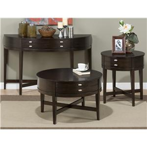Jofran Miniatures - Kent County Round End Table with One Drawer