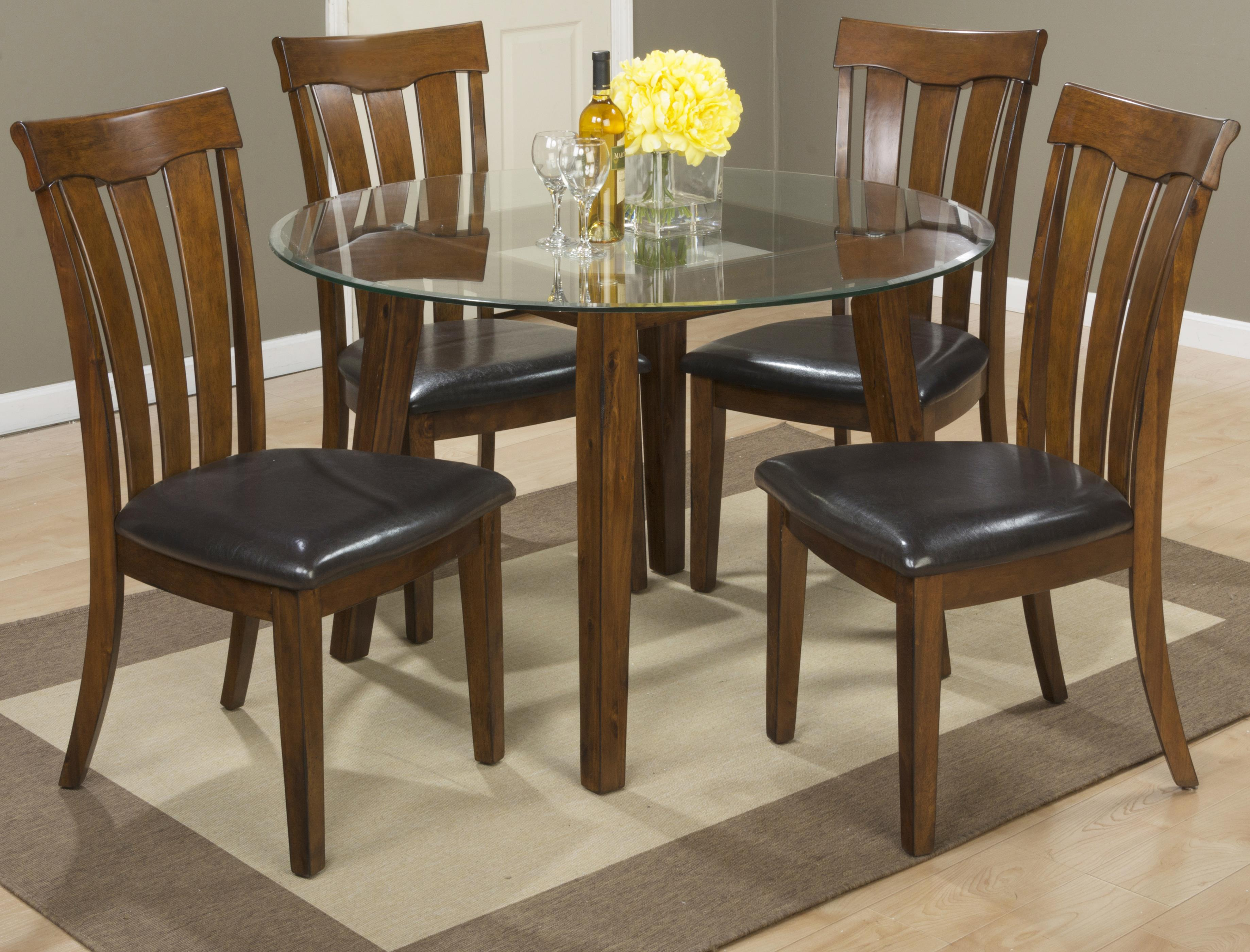 "Jofran Plantation 48"" Round Dining Height Table and Chair Set - Item Number: 505-48B+G-48RD+4x423KD"