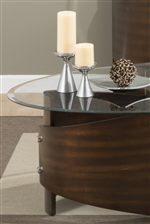 This Accent Table Collection has a Unique Style that Works well in Casual and Contemporary Rooms