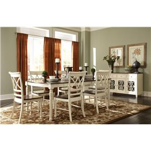 John Thomas Camden Two-Toned Extension Dining Table with Leaf
