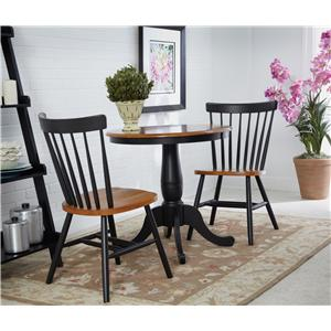 John Thomas Dining Essentials Square Drop Leaf Pedestal Table