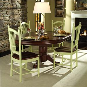 John Thomas SELECT Dining Butterfly Leaf Gathering Table with Turned Legs
