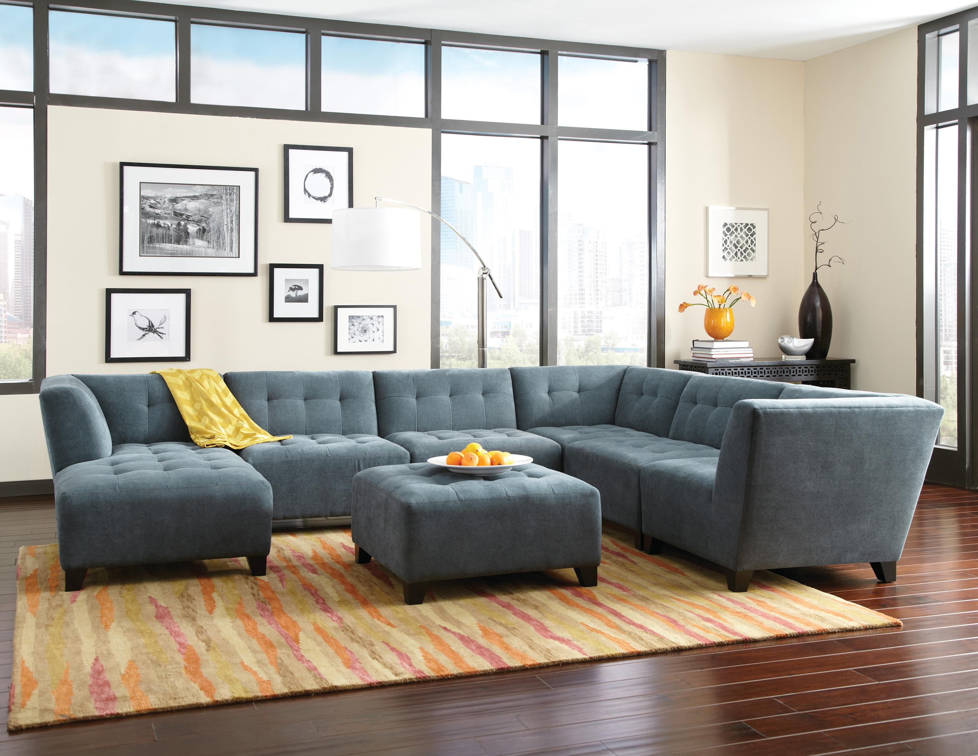 Jonathan Louis Belaire Contemporary Sectional