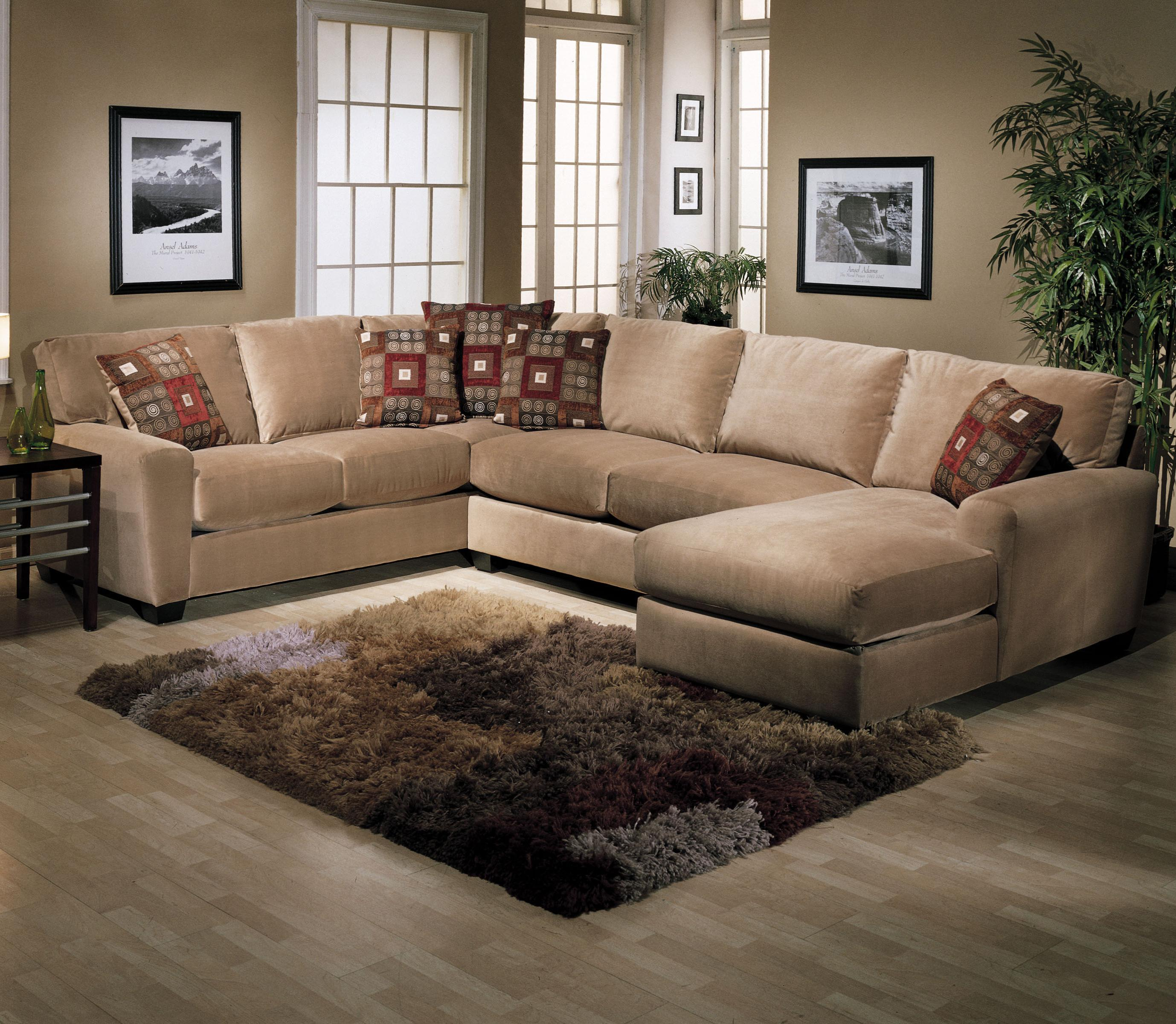 Jonathan Louis L Shape Sectional With Raf Chaise Lounge