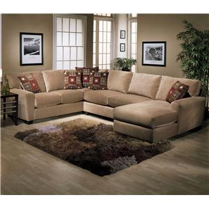 Jonathan Louis Benson L Shape Sectional With RAF Chaise Lounge